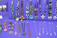 Some of the handmade jewelry from All About the Bling Jewelry Boutique